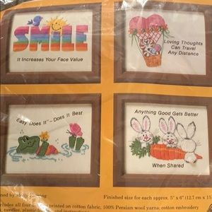 """Creative Circle #4007 """"Think Happy"""" Embroidery Kit"""